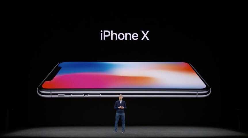 iPhone X in de winkel